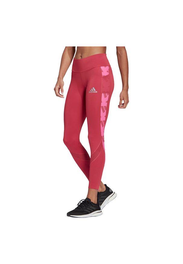 Adidas - Legginsy do biegania adidas Own The Run Celebration GK5068. Materiał: poliester, włókno, elastan, materiał. Długość: długie. Sport: bieganie