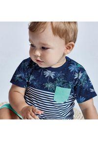 Mayoral T-Shirt 1014 Granatowy Regular Fit. Kolor: niebieski