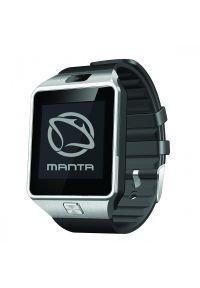 Czarny zegarek Manta smartwatch