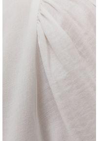 Vila - Koszula. Okazja: na co dzień. Kolor: biały. Materiał: tkanina, wiskoza, materiał. Długość rękawa: długi rękaw. Długość: długie. Wzór: gładki. Styl: casual