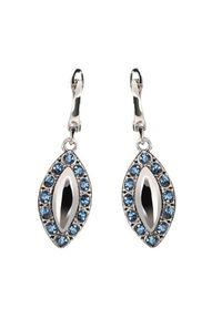 Polcarat Design - Kolczyki srebrne z kryształami Swarovski K 1826. Materiał: srebrne. Kolor: srebrny. Wzór: aplikacja. Kamień szlachetny: kryształ