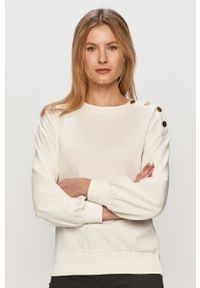 Biała bluza Jacqueline de Yong długa, z długim rękawem, bez kaptura