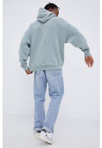 Young Poets Society - Bluza bawełniana. Typ kołnierza: kaptur. Kolor: turkusowy. Materiał: bawełna. Wzór: aplikacja