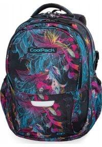 Patio Plecak szkolny Coolpack Cp Vibrant Bloom czarny. Kolor: czarny
