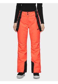 Czerwone spodnie narciarskie 4f Dermizax, na zimę