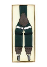 Lancerto - Szelki Zielone. Kolor: zielony. Materiał: syntetyk, skóra, materiał, elastan