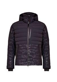 Czarna kurtka narciarska Bogner z nadrukiem