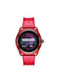 Czerwony zegarek Diesel smartwatch