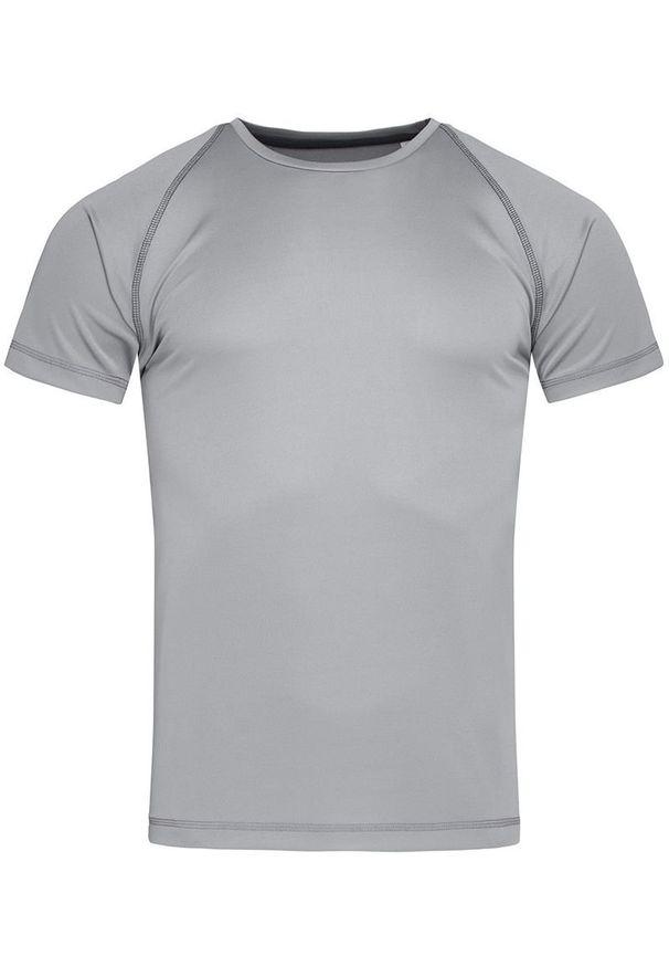 Stedman - Koszulka T-shirt, Szara, Sportowa, ACTIVE-DRY Poliester, Raglanowe Rękawy, Popielata. Kolor: szary. Materiał: poliester. Długość rękawa: raglanowy rękaw. Styl: sportowy