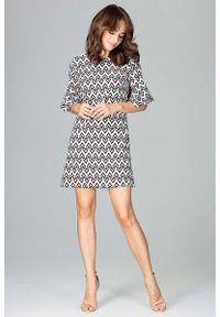 Sukienka Katrus mini, w geometryczne wzory