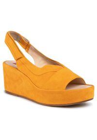 Żółte sandały HÖGL casualowe, na co dzień