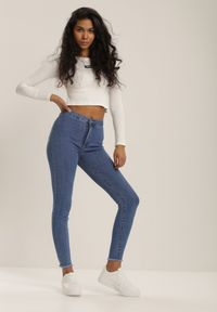 Renee - Niebieskie Jeansy Skinny Tintila. Kolor: niebieski