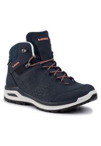 Niebieskie buty trekkingowe Lowa z cholewką