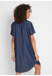 """Sukienka dżinsowa z bawełny organicznej bonprix niebieski """"stone"""". Kolor: niebieski. Materiał: bawełna"""