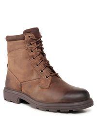 Brązowe buty zimowe Ugg z cholewką, eleganckie