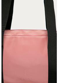 Różowa torba podróżna Rains gładkie