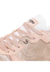 Beżowe buty sportowe Wrangler z cholewką, na co dzień