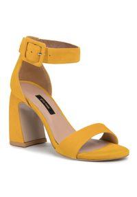 Żółte sandały Gino Rossi na co dzień, casualowe