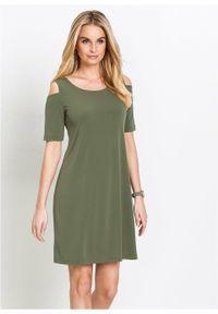 Zielona sukienka bonprix elegancka