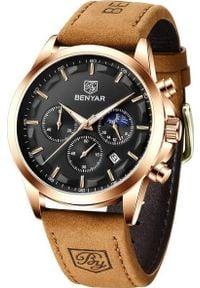 Zegarek BENYAR Excellence Złoty Czarny (BY5160). Kolor: czarny, wielokolorowy, złoty