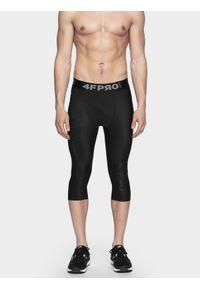 Czarne legginsy sportowe 4f na fitness i siłownię