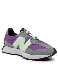 New Balance - Sneakersy NEW BALANCE - MS327TC Zielony. Kolor: zielony. Materiał: zamsz, materiał, skóra