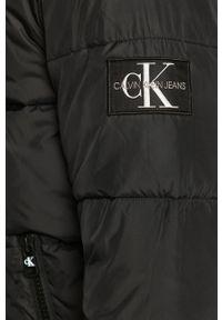 Czarna kurtka Calvin Klein Jeans na co dzień, casualowa, z kapturem