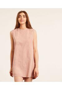 Silvio Koszula Nocna Bez Rękawów - Różowy - Etam. Kolor: różowy. Materiał: bawełna, materiał. Długość: krótkie