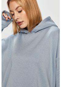 Fioletowa bluza Answear Lab wakacyjna, długa