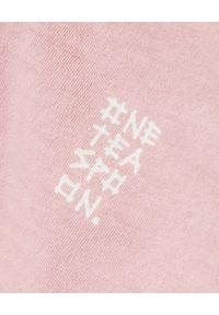 ONETEASPOON - Różowy t-shirt Rebel. Kolor: różowy, fioletowy, wielokolorowy. Materiał: bawełna. Wzór: napisy, nadruk