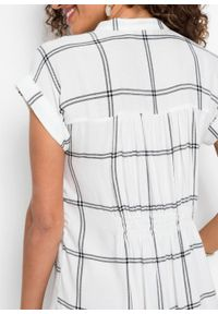 Biała sukienka bonprix koszulowa