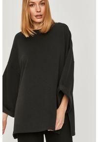Czarna bluza Answear Lab długa, wakacyjna, z długim rękawem, bez kaptura
