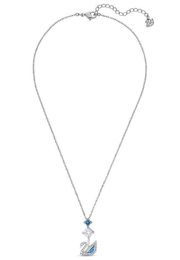 Srebrny naszyjnik Swarovski z kryształem, z aplikacjami