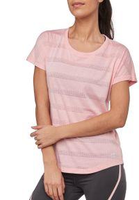 Koszulka damska do biegania Pro Touch Agny 285827. Materiał: jersey, bawełna, dzianina, materiał, syntetyk, włókno, poliester. Długość rękawa: krótki rękaw. Długość: krótkie. Sport: fitness, bieganie
