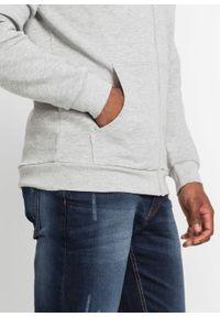 Bluza rozpinana z kapturem bonprix jasnoszary melanż. Typ kołnierza: kaptur. Kolor: szary. Wzór: melanż