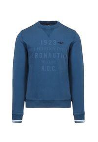 Aeronautica Militare - Bluza AERONAUTICA MILITARE. Materiał: materiał, bawełna, prążkowany. Wzór: prążki, nadruk