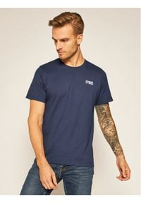 Tommy Jeans T-Shirt Corp Logo C Neck DM0DM09588 Granatowy Regular Fit. Kolor: niebieski