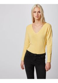 Morgan Sweter 211-MIEN Żółty Regular Fit. Kolor: żółty