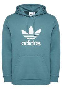 Adidas - adidas Bluza Trefoil GN3461 Zielony Regular Fit. Kolor: zielony