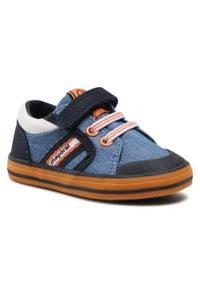 Mayoral - Tenisówki MAYORAL - 41310 Jeans 66. Okazja: na spacer. Zapięcie: rzepy. Kolor: niebieski. Materiał: materiał. Szerokość cholewki: normalna