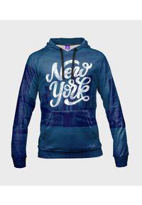 MegaKoszulki - Bluza damska fullprint z kapturem New York City. Typ kołnierza: kaptur. Materiał: dresówka, dzianina