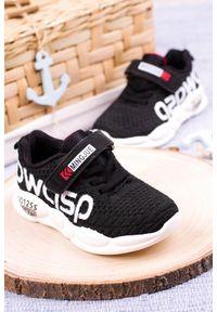 Casu - Czarne buty sportowe na rzep casu 20p16/m. Zapięcie: rzepy. Kolor: czarny