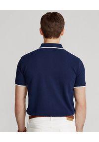 Niebieskie polo z krótkim rękawem Ralph Lauren na co dzień, w paski, polo
