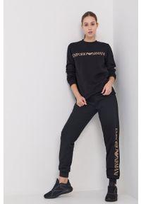 Emporio Armani Underwear - Dres. Kolor: czarny. Materiał: dresówka. Wzór: nadruk