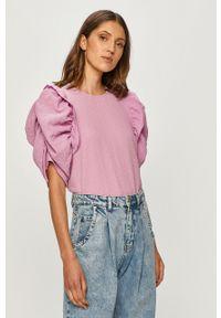 Fioletowa bluzka Vero Moda na co dzień, casualowa