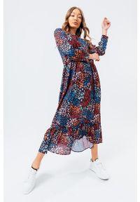 Hype - Sukienka MULTI PRINTS. Materiał: materiał. Długość rękawa: długi rękaw. Typ sukienki: rozkloszowane
