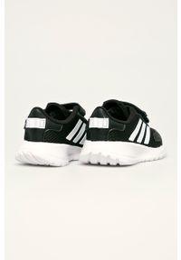 Czarne buty sportowe Adidas na rzepy, z cholewką, do biegania