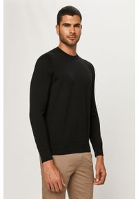 Czarny sweter Hugo casualowy, na co dzień, długi