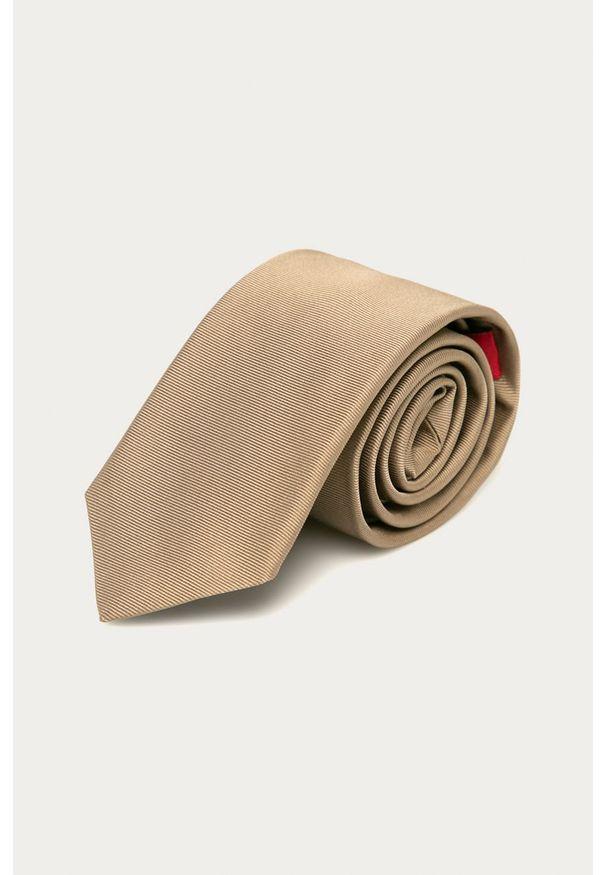 Beżowy krawat Hugo