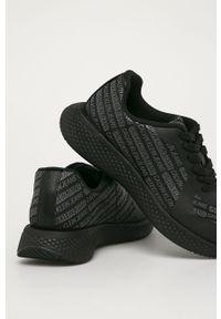 Czarne sneakersy Calvin Klein Jeans z cholewką, na sznurówki